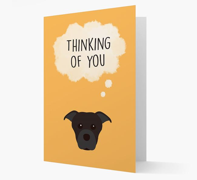 'Thinking of You' Card with Dog Icon