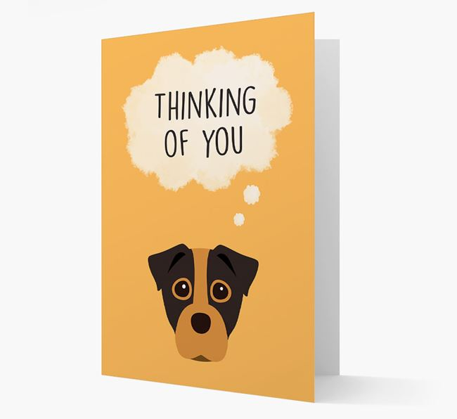 'Thinking of You' Card with Staffy Jack Icon