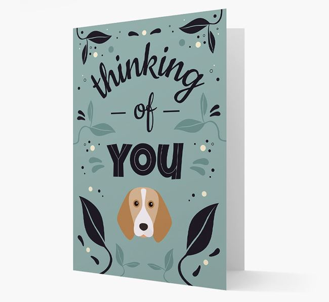 'Thinking of You' Floral Card with Beagle Icon