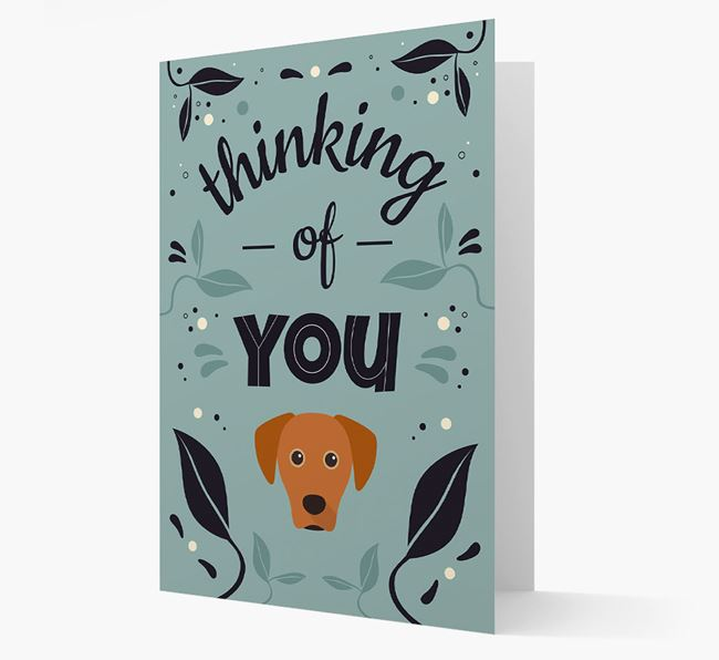 'Thinking of You' Floral Card with Blue Lacy Icon