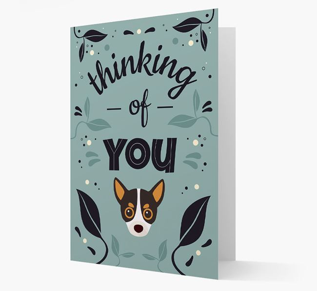 'Thinking of You' Floral Card with Chihuahua Icon