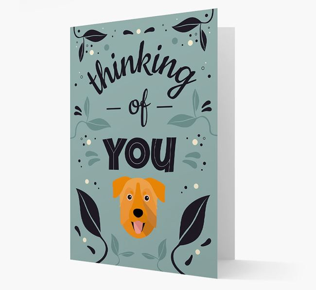 'Thinking of You' Floral Card with Chinook Icon