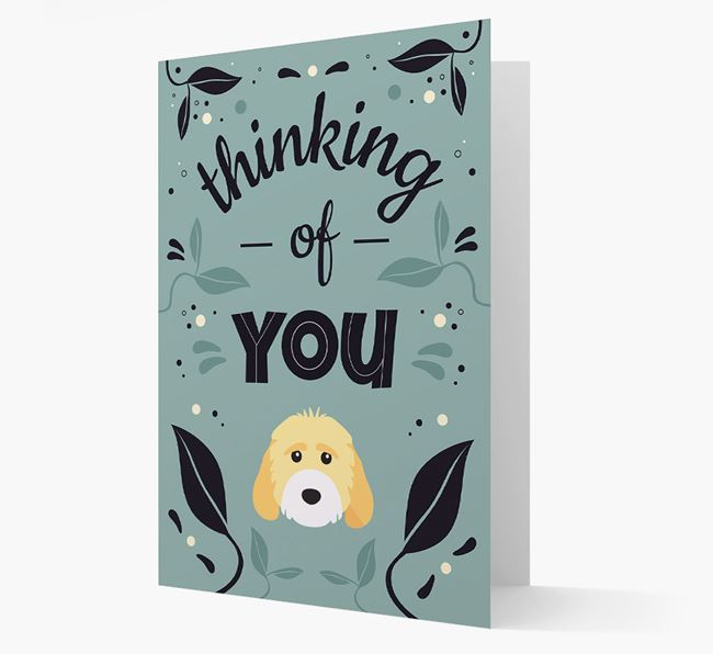 'Thinking of You' Floral Card with Cockapoo Icon