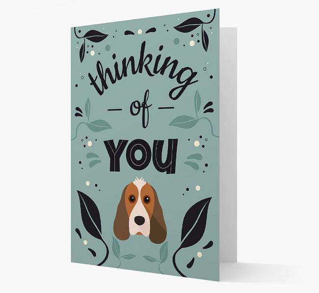 'Thinking of You' Floral Card with Cocker Spaniel Icon