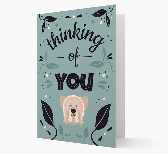 'Thinking of You' Floral Card with Skye Terrier Icon