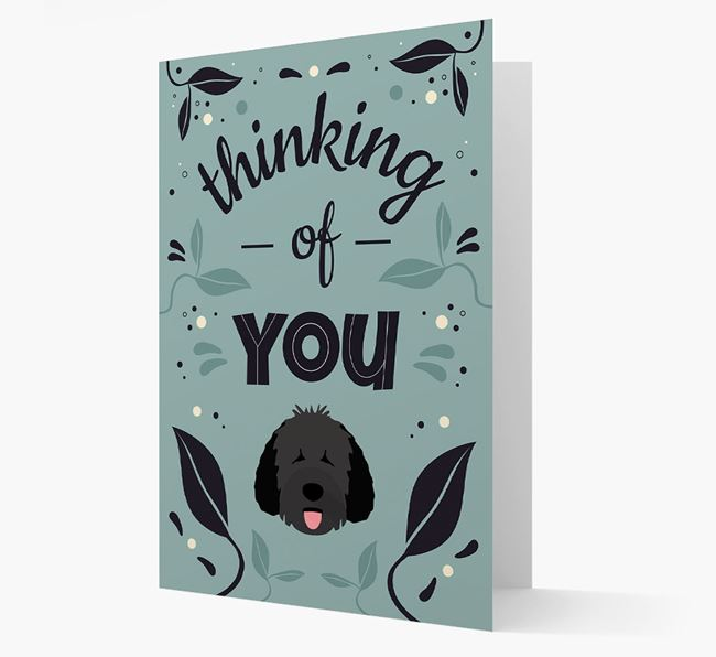 'Thinking of You' Floral Card with Dog Icon
