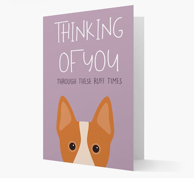 'Thinking of You Through These Ruff Times' Card with Australian Cattle Dog Icon