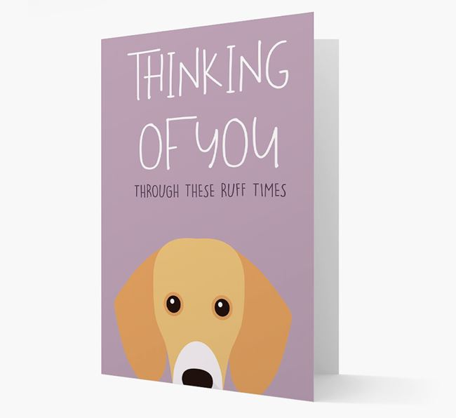 'Thinking of You Through These Ruff Times' Card with Bassador Icon