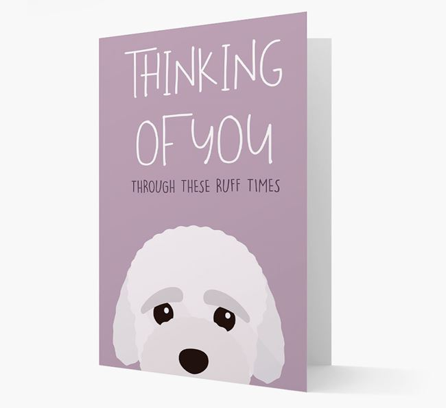 'Thinking of You Through These Ruff Times' Card with Bich-poo Icon