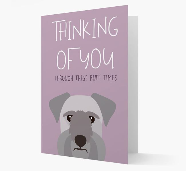 'Thinking of You Through These Ruff Times' Card with Cesky Terrier Icon