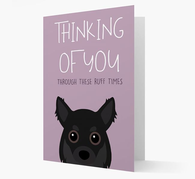 'Thinking of You Through These Ruff Times' Card with Chihuahua Icon