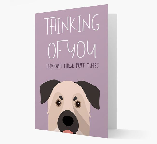 'Thinking of You Through These Ruff Times' Card with Chinook Icon