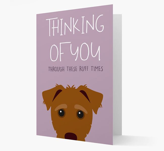 'Thinking of You Through These Ruff Times' Card with Jack-A-Poo Icon