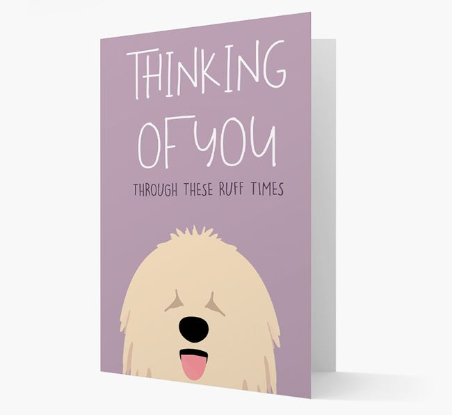 'Thinking of You Through These Ruff Times' Card with Komondor Icon