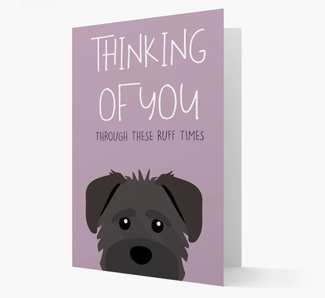 'Thinking of You Through These Ruff Times' Card with Schnoodle Icon