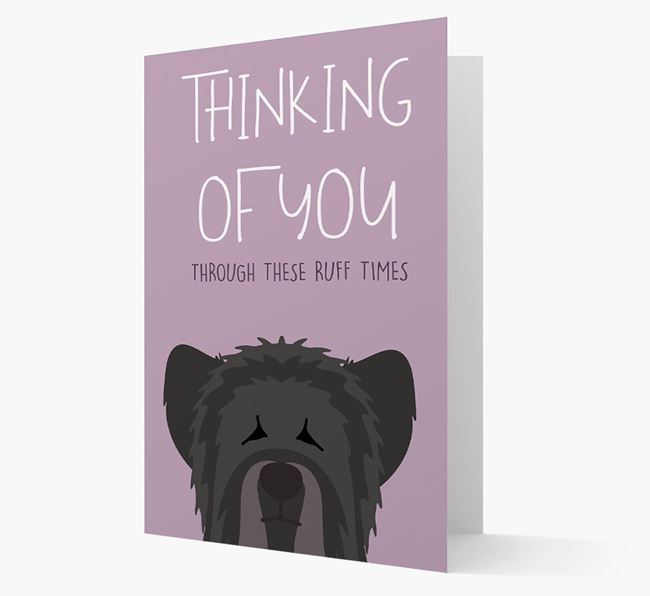 'Thinking of You Through These Ruff Times' Card with Skye Terrier Icon