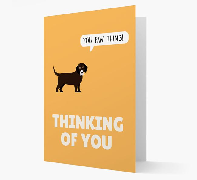 'Thinking of You, You Paw Thing!' Card with Bassador Icon