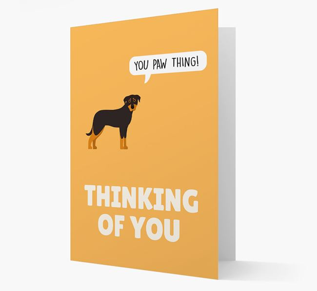 'Thinking of You, You Paw Thing!' Card with Beauceron Icon