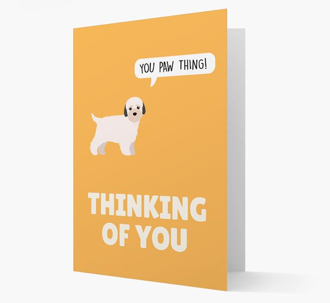'Thinking of You, You Paw Thing!' Card with Bich-poo Icon
