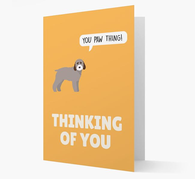 'Thinking of You, You Paw Thing!' Card with Cockapoo Icon