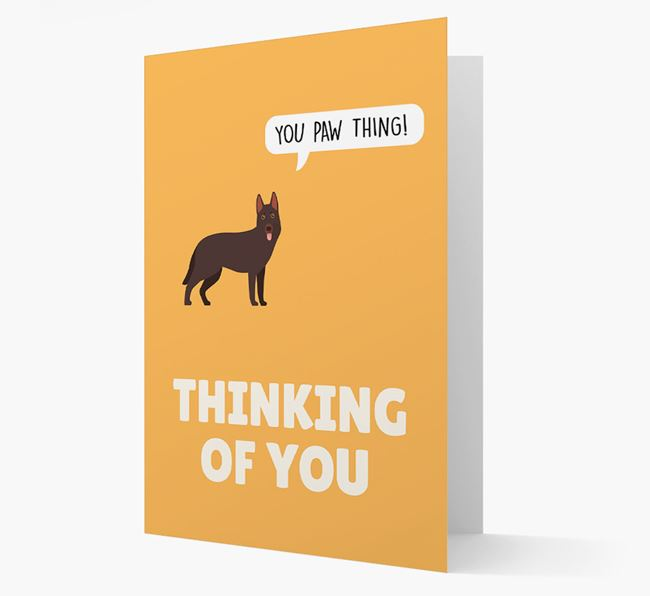 'Thinking of You, You Paw Thing!' Card with German Shepherd Icon
