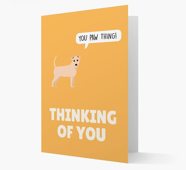 'Thinking of You, You Paw Thing!' Card with Jack-A-Poo Icon