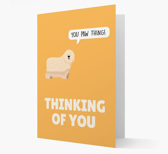 'Thinking of You, You Paw Thing!' Card with Komondor Icon