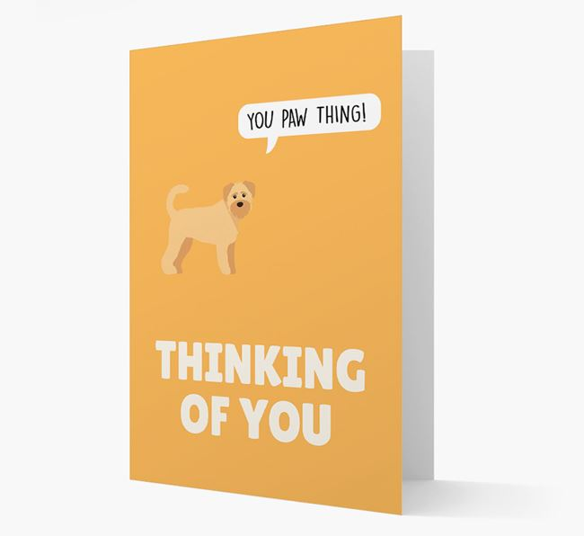 'Thinking of You, You Paw Thing!' Card with Schnoodle Icon