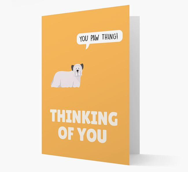 'Thinking of You, You Paw Thing!' Card with Skye Terrier Icon
