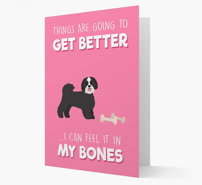 'Things are going to get better, I can feel it in my bones' Card with Lachon Icon