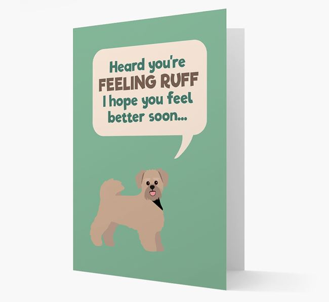 'Heard you're feeling Ruff...' Get Well Soon Card with Lachon Icon