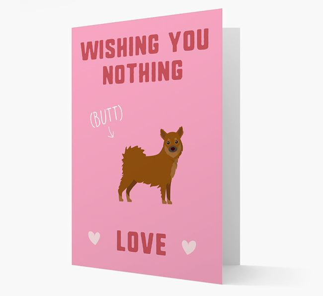 'Wishing You Nothing Butt Love' Card with Chihuahua Icon