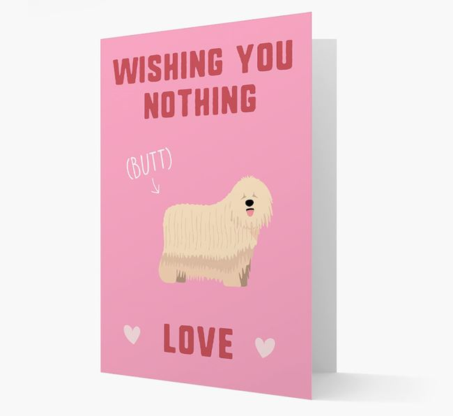 'Wishing You Nothing Butt Love' Card with Komondor Icon
