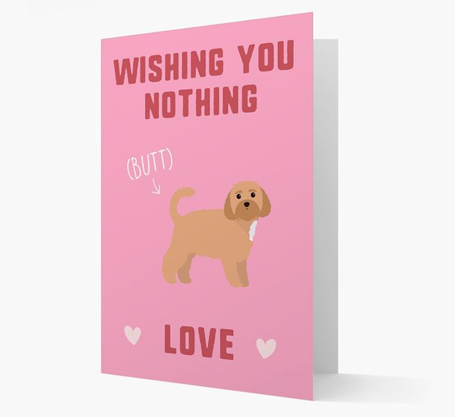 'Wishing You Nothing Butt Love' Card with Dog Icon
