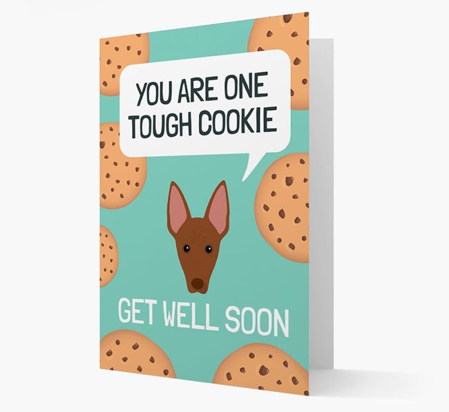 'You are one tough Cookie' Get Well Soon Card with American Hairless Terrier Icon