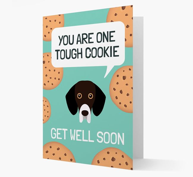 'You are one tough Cookie' Get Well Soon Card with Bassador Icon
