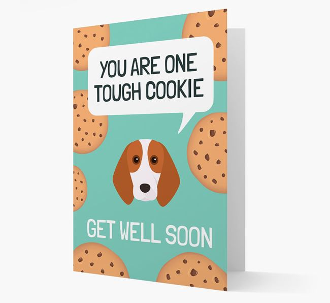 'You are one tough Cookie' Get Well Soon Card with Beagle Icon