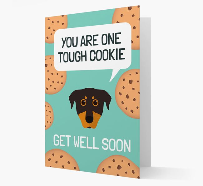 'You are one tough Cookie' Get Well Soon Card with Beauceron Icon