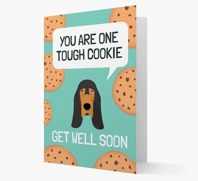 'You are one tough Cookie' Get Well Soon Card with Bloodhound Icon