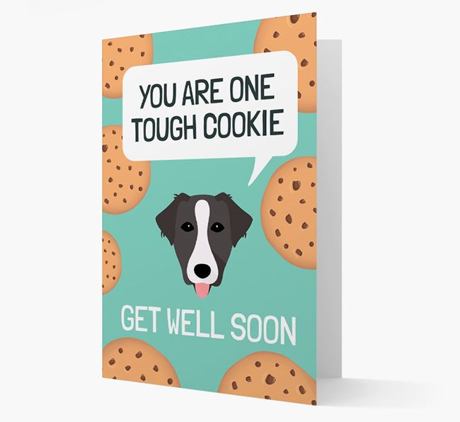 'You are one tough Cookie' Get Well Soon Card with Borador Icon