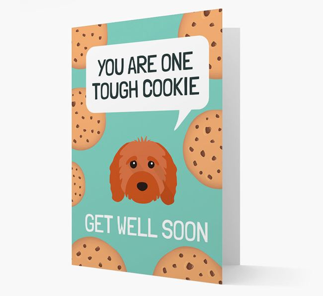 'You are one tough Cookie' Get Well Soon Card with Cavapoo Icon