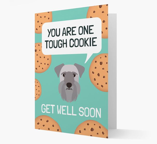 'You are one tough Cookie' Get Well Soon Card with Cesky Terrier Icon