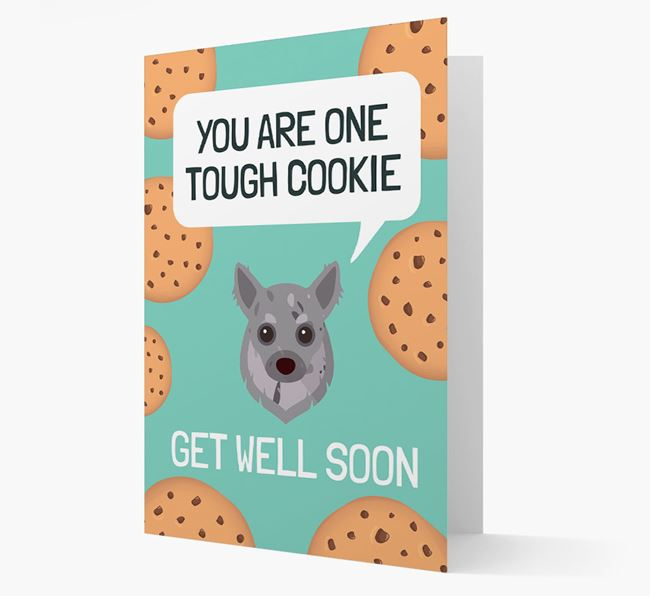 'You are one tough Cookie' Get Well Soon Card with Chihuahua Icon