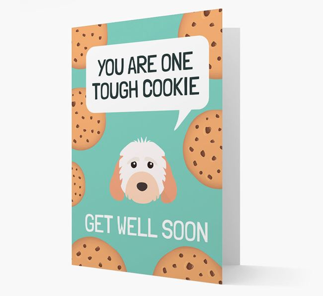 'You are one tough Cookie' Get Well Soon Card with Cockapoo Icon