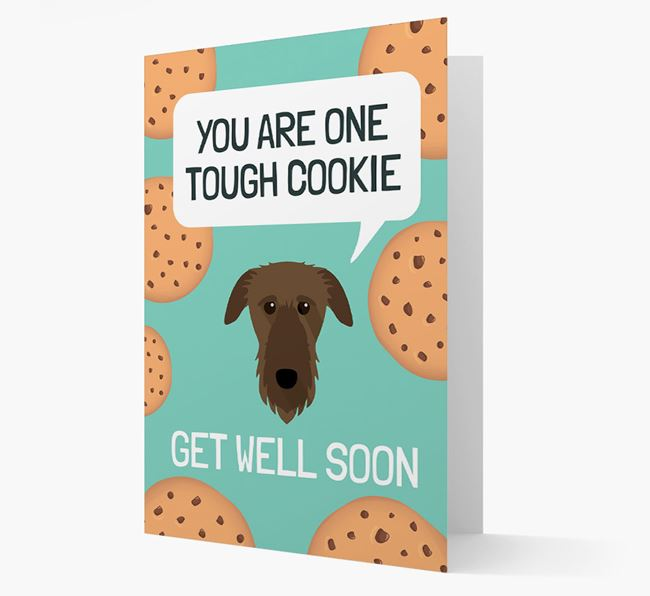 'You are one tough Cookie' Get Well Soon Card with Deerhound Icon