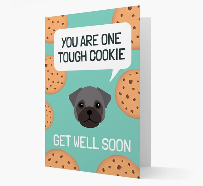 'You are one tough Cookie' Get Well Soon Card with Frug Icon