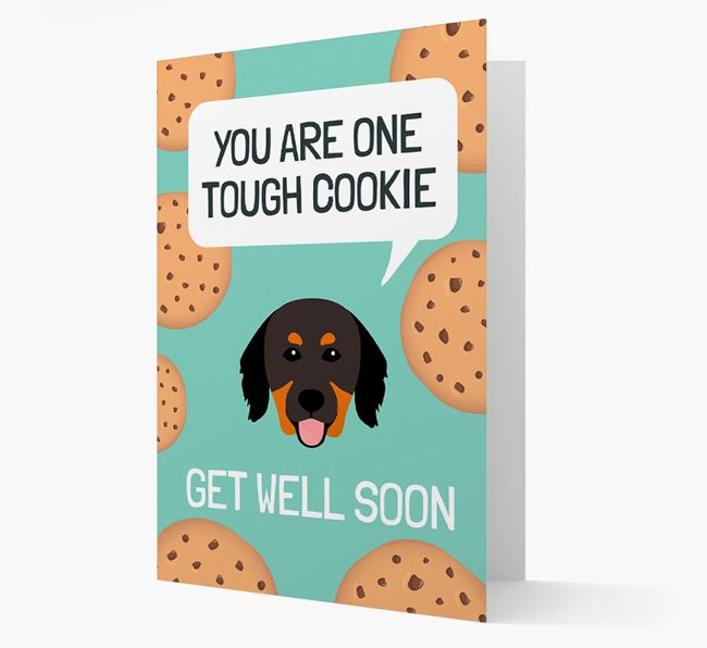 'You are one tough Cookie' Get Well Soon Card with Hovawart Icon