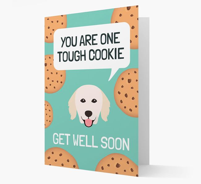 'You are one tough Cookie' Get Well Soon Card with Hungarian Kuvasz Icon