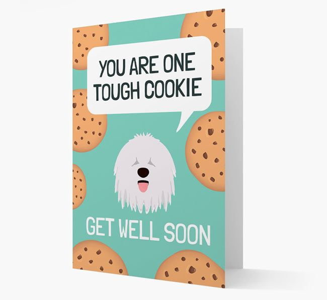 'You are one tough Cookie' Get Well Soon Card with Komondor Icon