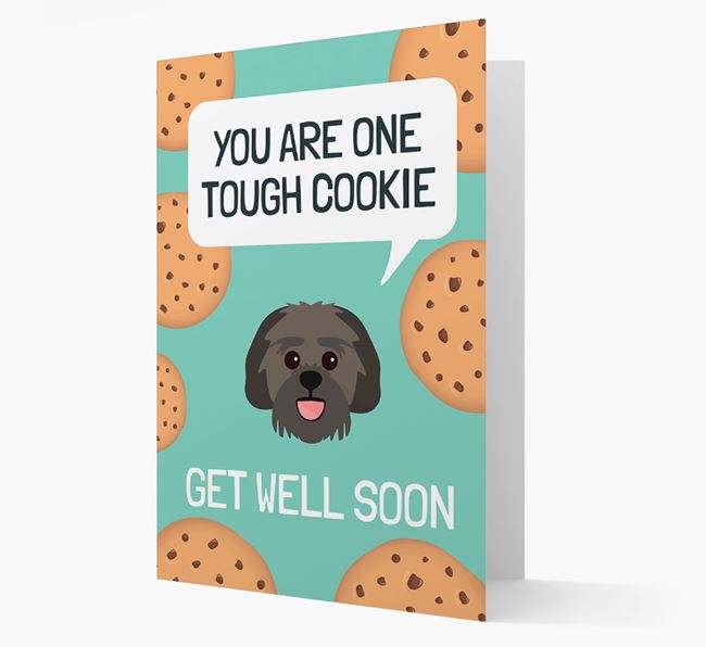 'You are one tough Cookie' Get Well Soon Card with Lachon Icon